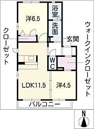 ブランカA棟[1階]の間取り