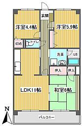 東京都練馬区大泉学園町5丁目の賃貸マンションの間取り