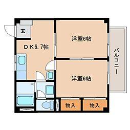 静岡県藤枝市高岡の賃貸アパートの間取り