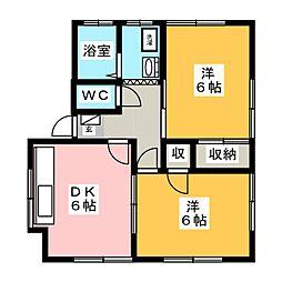 デュアル釜井台I[1階]の間取り