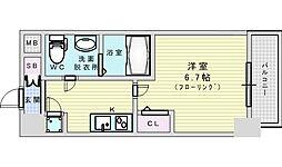 Osaka Metro御堂筋線 新大阪駅 徒歩9分の賃貸マンション 7階1Kの間取り