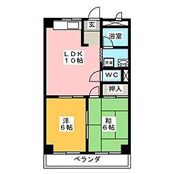 三崎近藤ハイツ[2階]の間取り