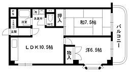 メゾン井阪[101号室]の間取り