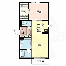泉北高速鉄道 和泉中央駅 徒歩14分の賃貸アパート 2階1LDKの間取り