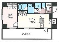 エスティメゾン浅草駒形[4階]の間取り