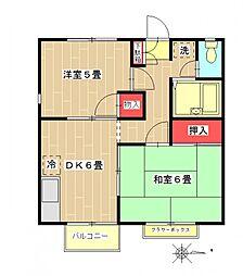 エステートピア田村[201号室号室]の間取り