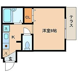 Aiマンション[1階]の間取り