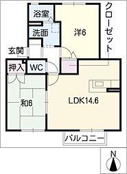 コンフォール・ヨシ[2階]の間取り