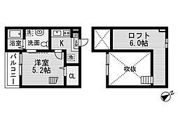 プレリュード左京山[2階]の間取り