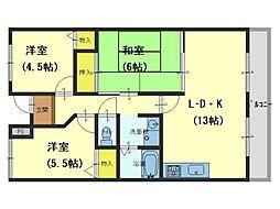 メゾンドールSK[3階]の間取り