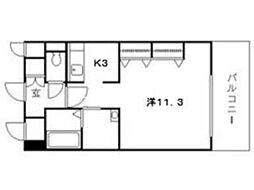 クレストシティ中井町[4階]の間取り