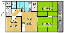 ハイクレスト宮之阪[5階]の間取り
