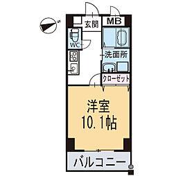 新築クリサンテーム[206号室]の間取り