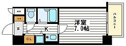 リーガル上本町[4階]の間取り
