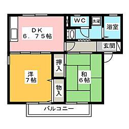 マグノリアA・B[1階]の間取り