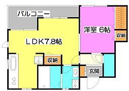 カーサキヨミ[2階]の間取り