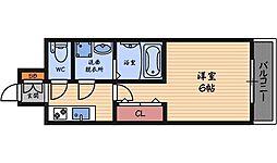 レジュールアッシュ福島レジデンス[4階]の間取り