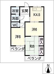 コーポマロン[2階]の間取り