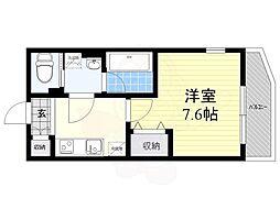西武池袋線 椎名町駅 徒歩5分の賃貸マンション 2階1Kの間取り