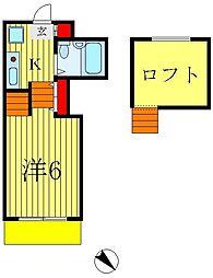 ジュネパレス松戸第73[1階]の間取り