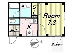 パルコAmagasaki[203号室]の間取り