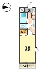 愛知県長久手市仏が根の賃貸マンションの間取り