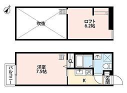 セレナカーサ[2階]の間取り