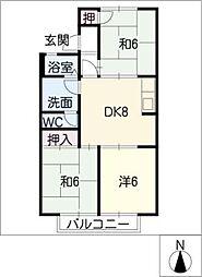 メゾンプレフェーレ[2階]の間取り