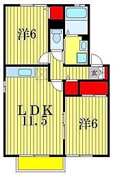 プティヴィラージュI・II[1階]の間取り