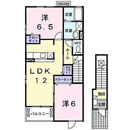 メゾン・シ−ダ−壱番館[0201号室]の間取り