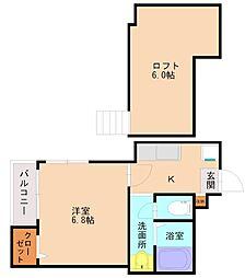 ポラリス筑紫丘2[1階]の間取り