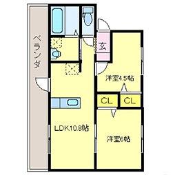 コォーリングマンションI[3-2号室]の間取り