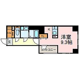 エイペックス名古屋鶴舞公園前[3階]の間取り