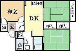 プラシーボUji B棟[1階]の間取り