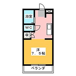 サンライズ御門台[2階]の間取り