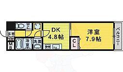 M's 3階1DKの間取り
