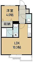 THE IoT Haranomachi α 4階1LDKの間取り