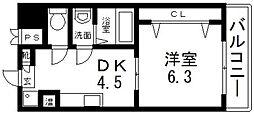 新深江池田マンション[407号室号室]の間取り