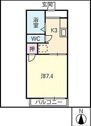 プルメリア加藤[2階]の間取り
