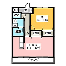 JISHOUJIマンション[2階]の間取り