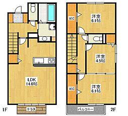 D-room平和弐番館[1階]の間取り