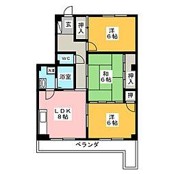 Belle  Epoch  OGAWA[3階]の間取り