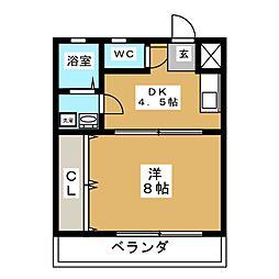 コーポ数寄屋[1階]の間取り