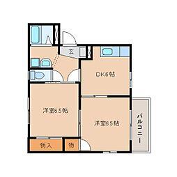 静岡県静岡市清水区船原の賃貸アパートの間取り
