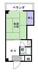 カルム箱崎[3階]の間取り