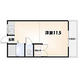 昭和町 ワンルーム[102号室]の間取り