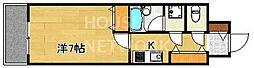 ライオンズマンション四条堀川[202号室号室]の間取り