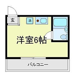 エクラ阿倍野[5階]の間取り