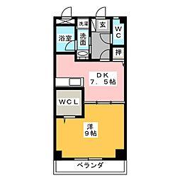 アゼリア東幸 B[2階]の間取り