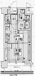 アクアプレイス京都西院[2階]の間取り